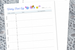 How I'm Learning To Cope With Disordered Eating: Meal Tracking Free Printable