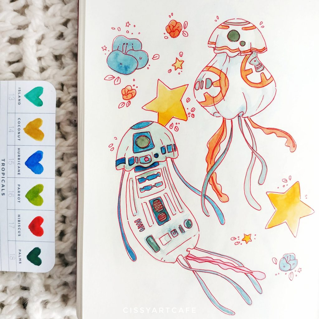 May is for Mermaids: Droids - Cissy's Art Café