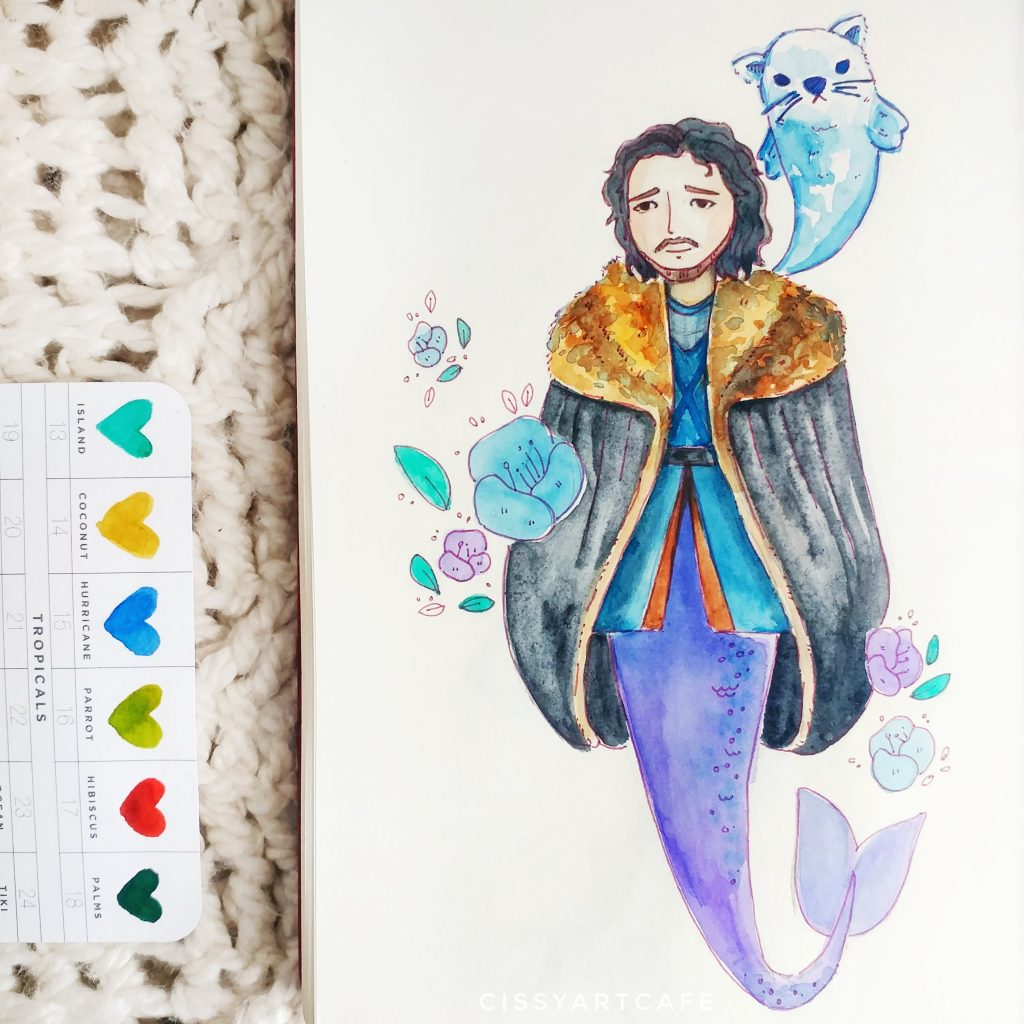 May is for Mermaids: Jon Snow - Cissy's Art Café