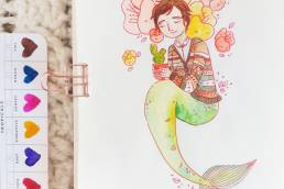 May is for Mermaids: Neville - Cissy's Art Café