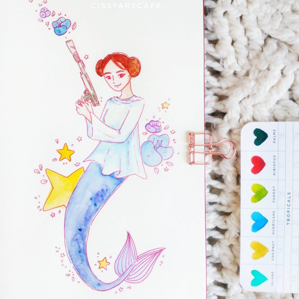 May is for Mermaids: Leia - Cissy's Art Café