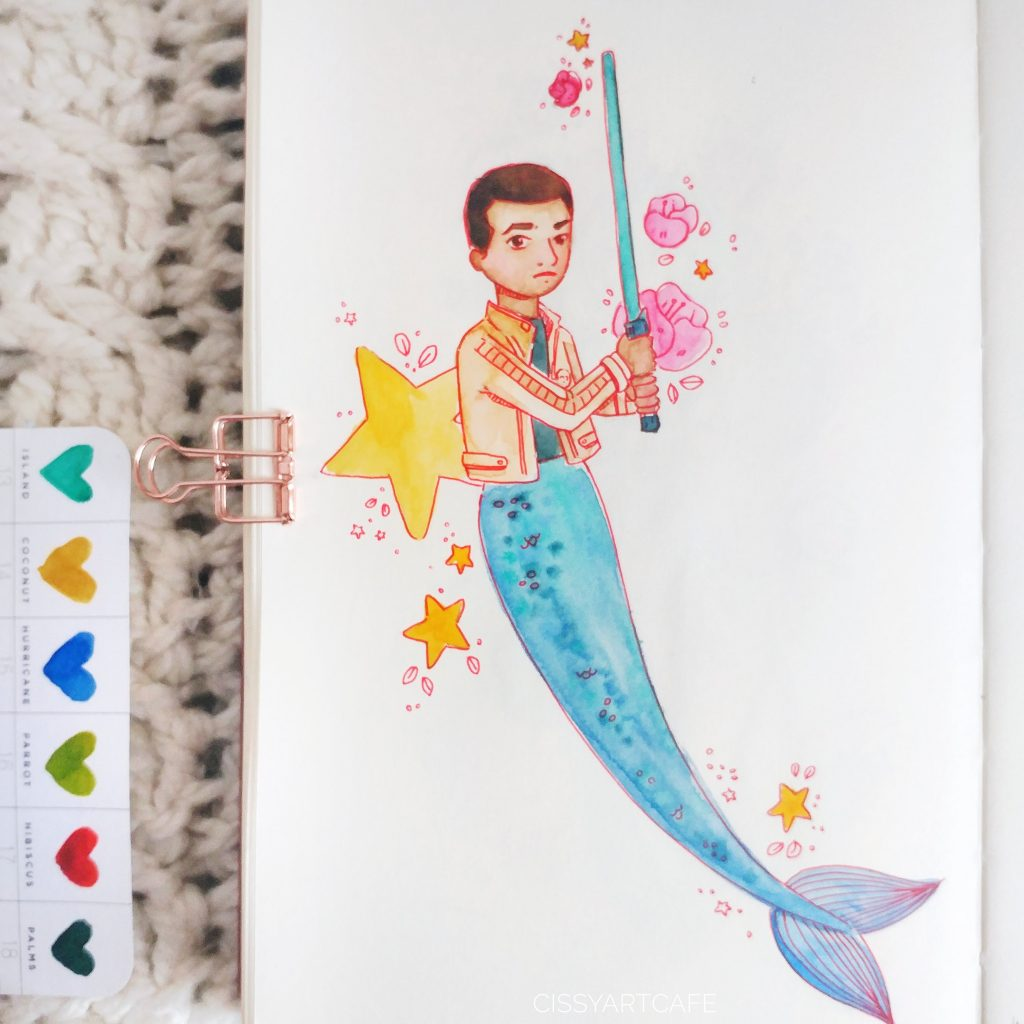 May is for Mermaids: Finn - Cissy's Art Café