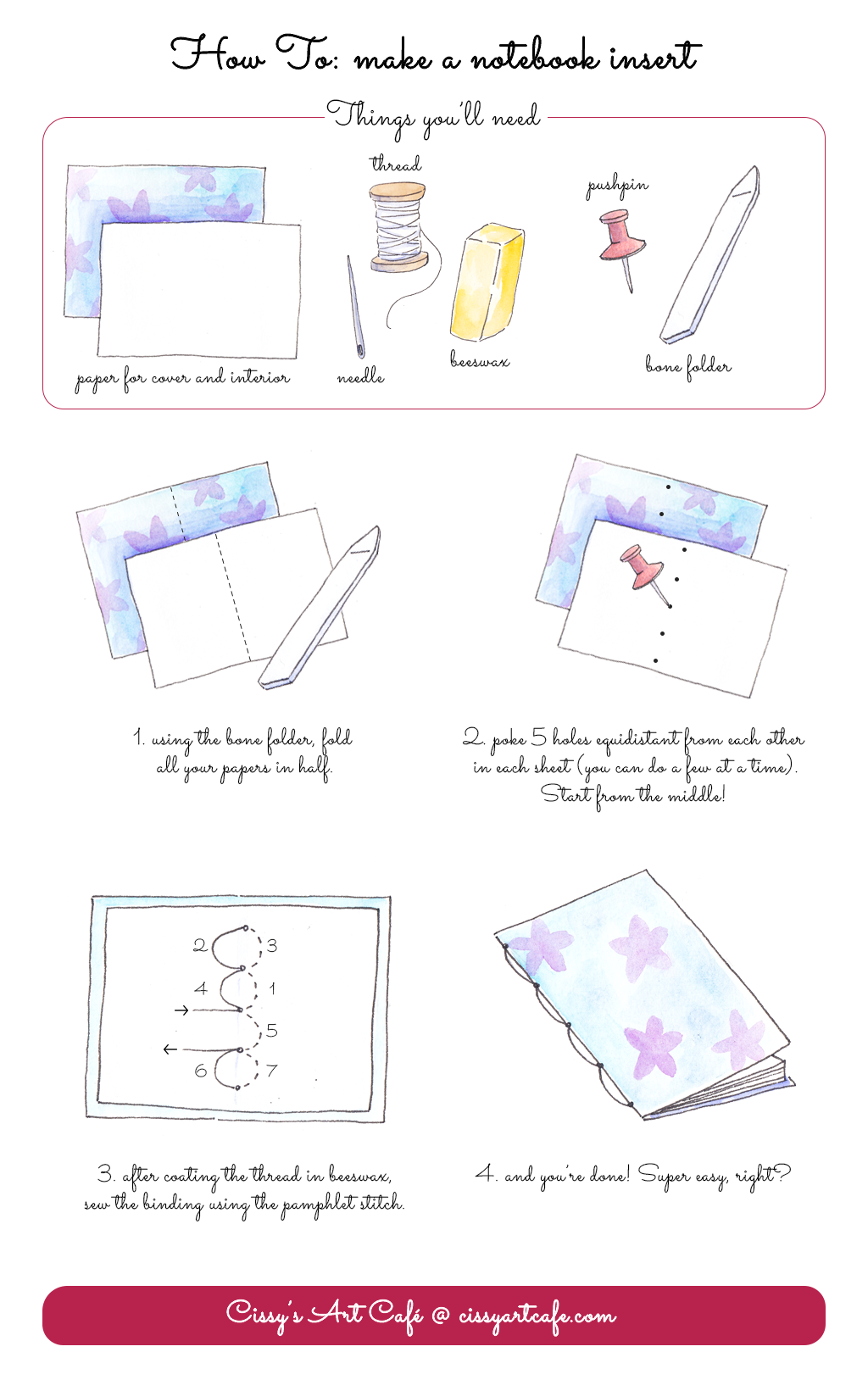 How To Make a Simple Notebook Insert - Cissy's Art Café