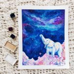 Project Focus: Starry Night Elephant - Full Piece // Cissy's Art Café