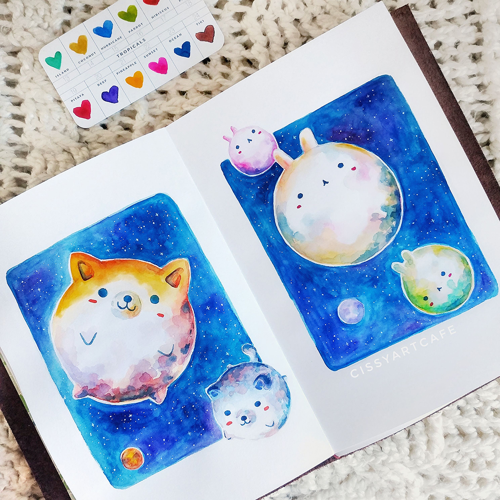 Animal Planets: 100 Days of Daily Painting - Cissy's Art Café