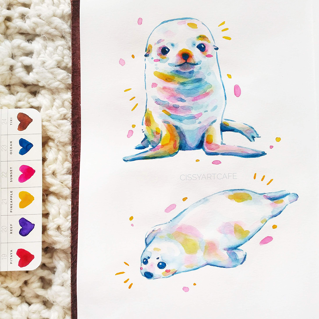 Daily Painting Habits - Seal Stickers @ Cissy's Art Café