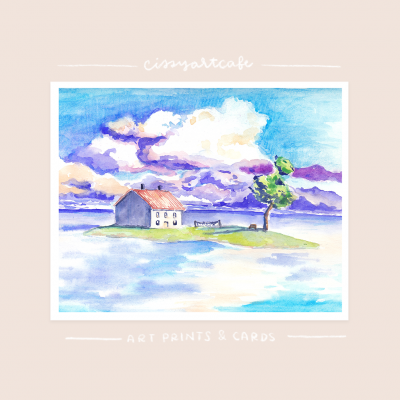 Spirited Home Art Print & Greeting Card @ Cissy's Art Café