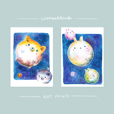 Animal Planets Art Prints - Cissy's Art Café