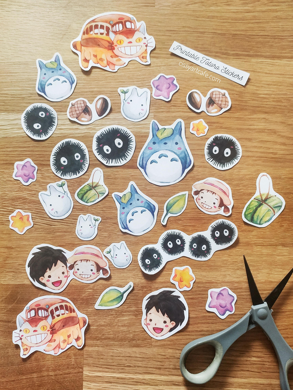 Illustrated Summer Favorites: Stickers @ CIssy's Art Café