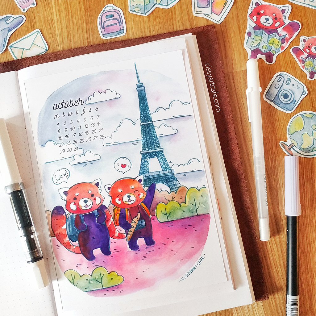 Global Travelers • Bullet Journal Theme @ Cissy's Art Café