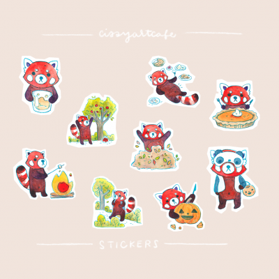 Autumn Bucket List • Planner Stickers & Sticker Decals @ Cissy's Art Café