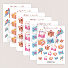 happy mail mini sticker sheets @ cissy's art café