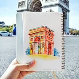 travel sketches: france @ cissy's art café