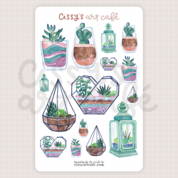 lil terrariums sticker sheet @ cissy's art café