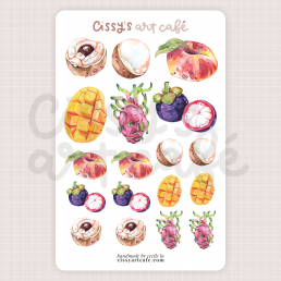 cutie fruities sticker sheet @ cissy's art café