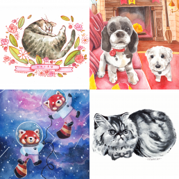 pet commissions @ cissy's art café