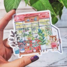 plant shop sticker @ cissy's art café