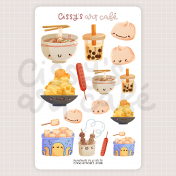 taiwanese yums sticker sheet @ cissy's art café