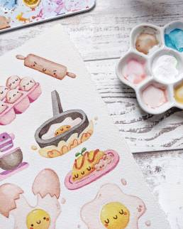 cozy eggies sticker set @ cissy's art café