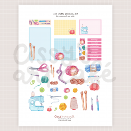 cozy crafts printable kit @ cissy's art café