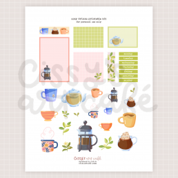 cozy drinks printable kit @ cissy's art café