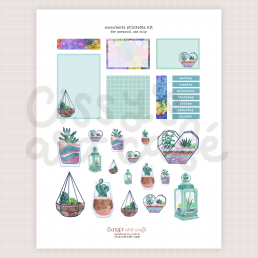 lil succulents printable kit @ cissy's art café