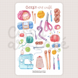 cozy crafts sticker sheet @ cissy's art café