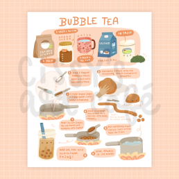 bubble tea recipe @ cissy's art café