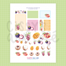 cutie fruities printable kit @ cissy's art café
