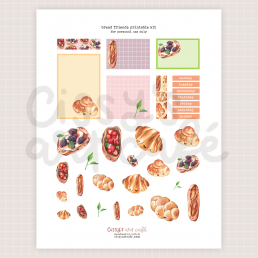bread friends printable kit @ cissy's art café