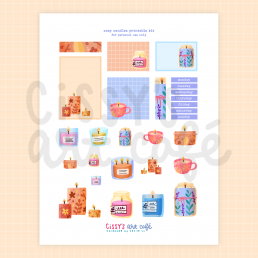 cozy candles printable kit @ cissy's art café