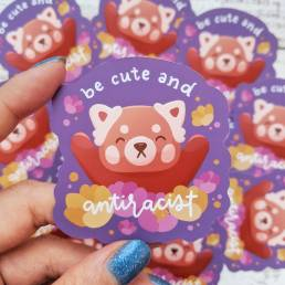 be cute and anti-racist sticker fundraiser @ cissy's art café