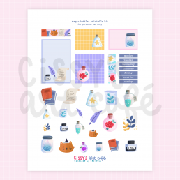 magic bottles printable kit @ cissy's art café