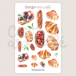 bread friends sticker sheet @ cissy's art café