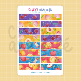 fruity washi sticker sheet @ cissy's art café