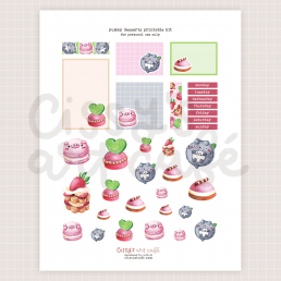 yummy desserts printable kit @ cissy's art café