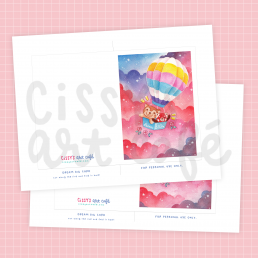 dream big printable card @ cissy's art café