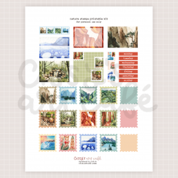 nature stamps printable kit @ cissy's art café