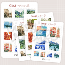 nature stamps stickers @ cissy's art café
