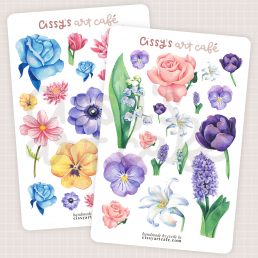 island florals sticker sheets @ cissy's art café