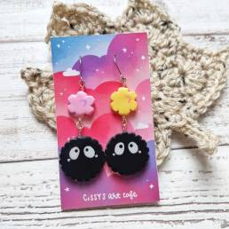 sprite handmade clay earrings @ cissy's art café