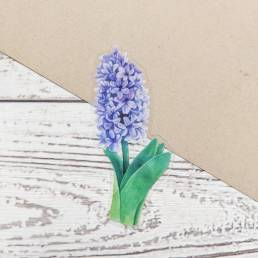 purple hyacinth clear sticker @ cissy's art café