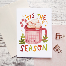 tis the season card @ cissy's art café