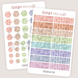 watercolor knit textures sticker sheets @ cissy's art café