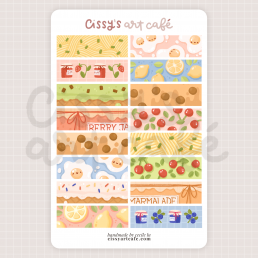 foodie washi sticker sheet @ cissy's art café