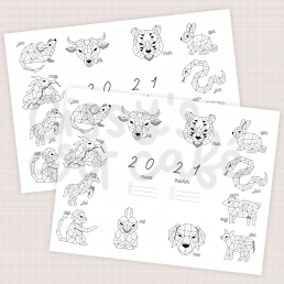 zodiac mood tracker printable @ cissy's art café