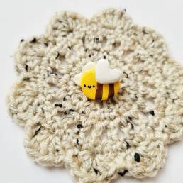 lil bee handmade clay pin @ cissy's art café