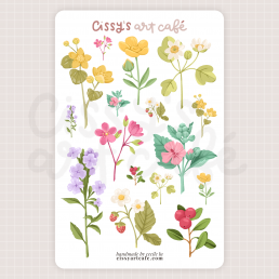 wildflowers sticker sheet @ cissy's art café