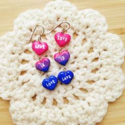 love is love handmade clay earrings @ cissy's art café
