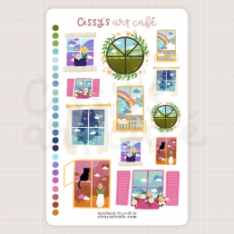 windows sticker sheet @ cissy's art café